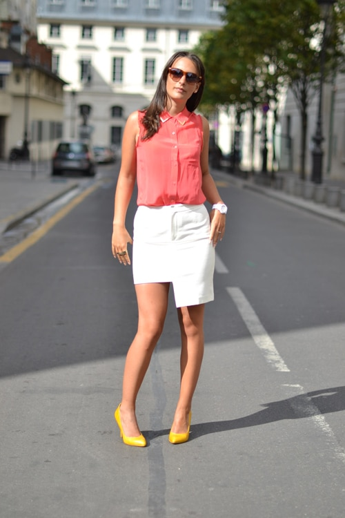 chemise bel air - jupe h&m