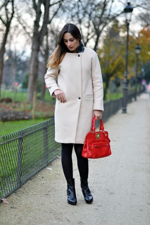 manteau sandro - chaussure clarks