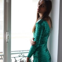 robe sequins ivy revel