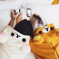Pyjama party with Rilakkuma