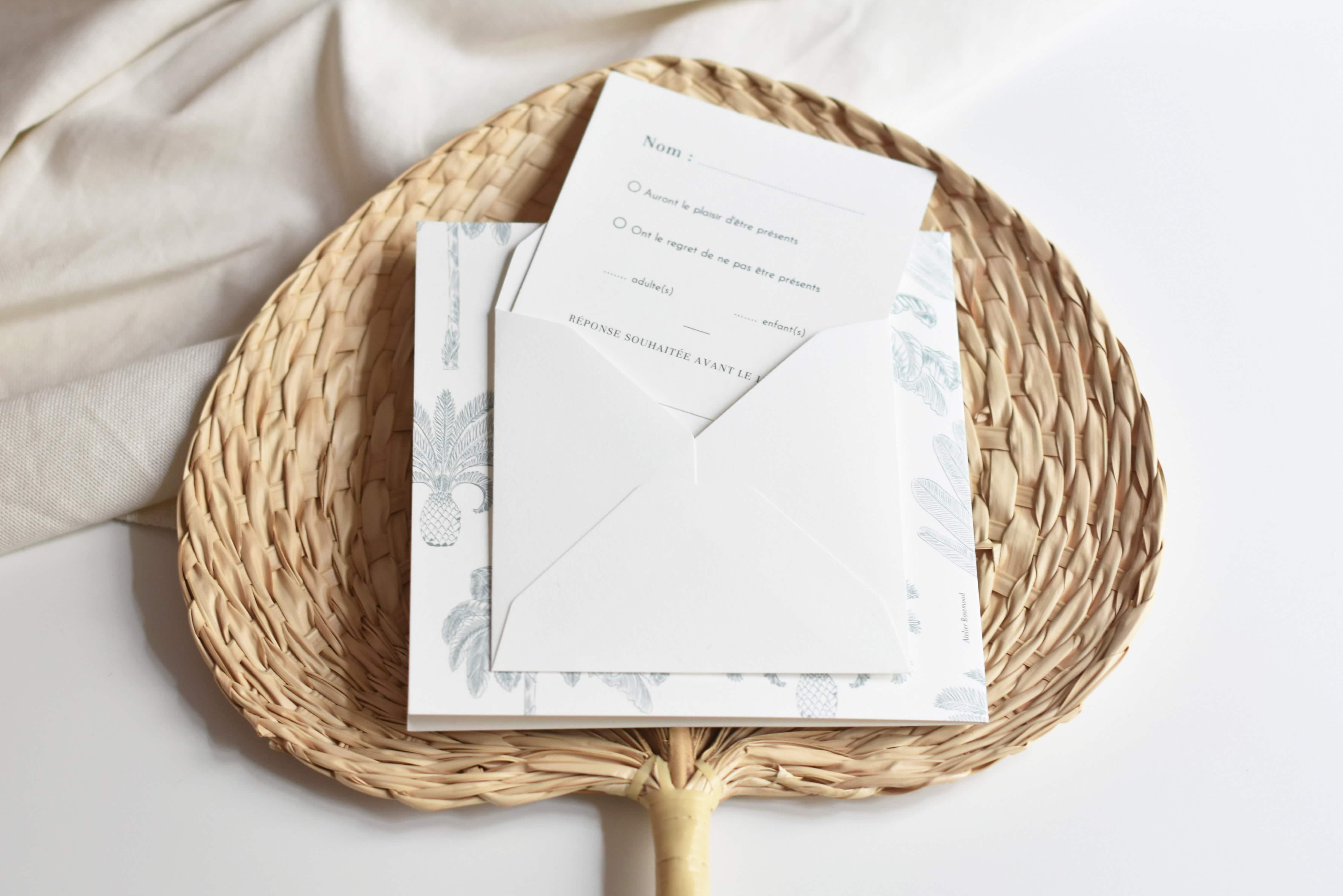 Faire part de mariage - Atelier Rosemood